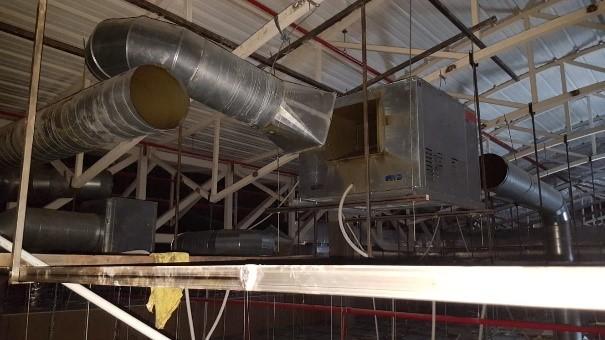 Instalación de sistemas de extracción de humos – Instalación desmontada para su limpieza