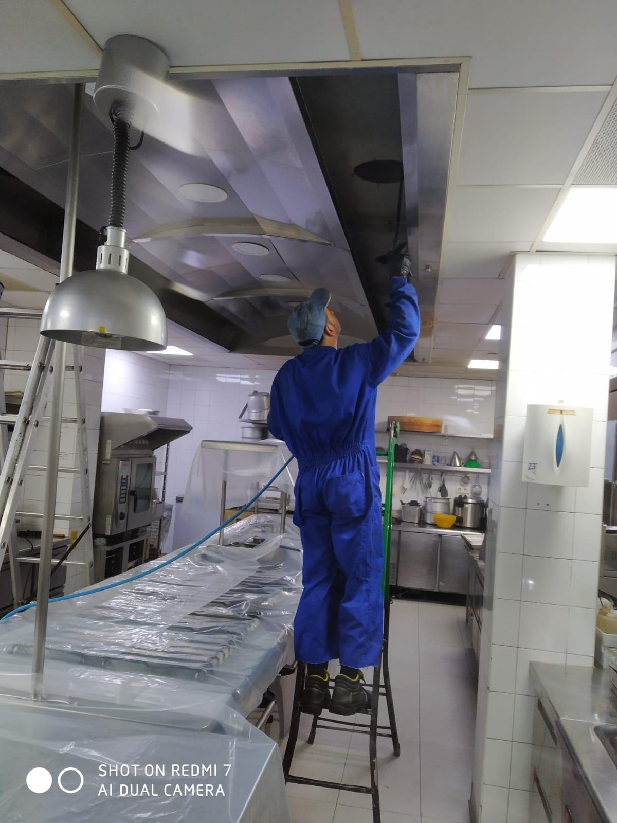 Limpieza de campana – Preparación antes del servicio